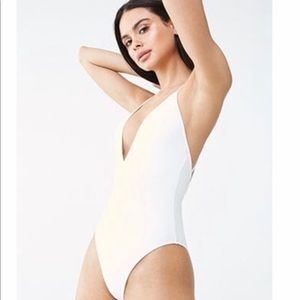 Forever 21 white one piece swimsuit